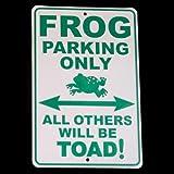 Frog Legs Toad Art Froggy Aluminum Sign Metal Plaque
