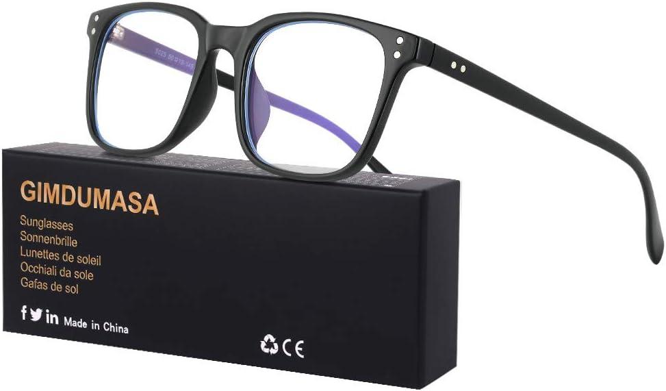 Gimdumasa gafas ordenador gaming pc uv luz filtro proteccion azul mujer hombre para antifatiga GI799 (Negro)