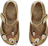 Mini Melissa Girls' Mini Ultragirl + Bambi Ballet Flat, Gold, 9 M US Toddler