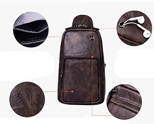 Leisure Business Chest Backpack Outdoor Package Laidaye Sports Bag Men Shoulder Black 57wFXqR