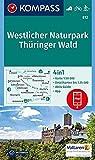 Westlicher Naturpark Thüringer Wald: 4in1 Wanderkarte 1:50000 mit Aktiv Guide und Detailkarten inklusive Karte zur offline Verwendung in der ... Langlaufen. (KOMPASS-Wanderkarten, Band 812)