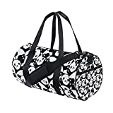 ALAZA Cute Panda Pattern Travel Sports Bag with Backpack Tote Gym Bag