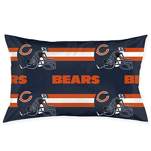 Nfl Decorative Pillow - Sorcerer Design Pillowcase Colorful Chicago Bears American Football Team Bedding Pillow Covers Double Sided Printing Rectangular Pillow Cases Home Couch Sofa Decorative 20x30 Inches