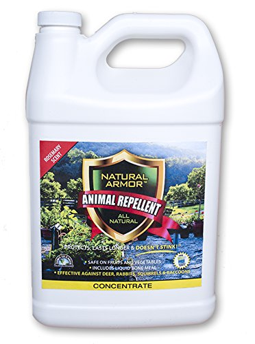 Natural Armor Animal Repellent - Gallon - 128 Ounce - Rosemary Scent (Critter Ridder Liquid)