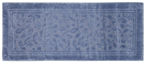 well-wreapped Mohawk Home Wellington Blue Vine Scroll High Low Plush Bath Mat, 24x60, Blue