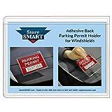 StoreSMART - Parking Permit Holder for Windshields - Adhesive Back - 3-Pack - PSR-PARK-1045L-3