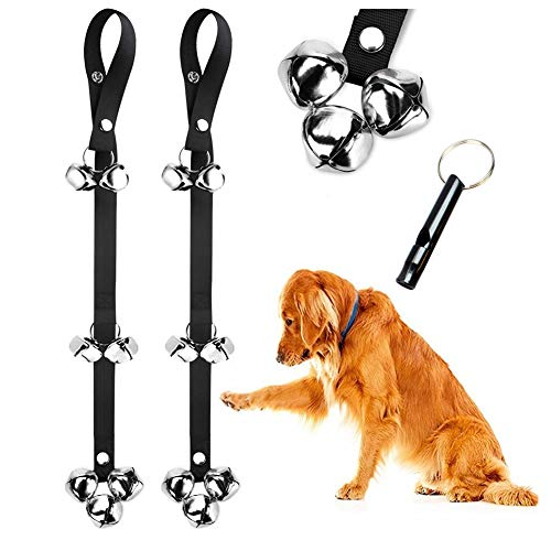 BLUETREE Dog Doorbells Premium Quality Training Potty Great Dog Bells Adjustable Door Bell Dog Bells for Potty Training Your Puppy The Easy Way - Premium Quality - 7 Extra Large Loud 1.4 DoorBells (How To Make Dogs)