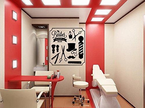 Wall Window Decal Sticker Barber Shop Man Salon Haircut