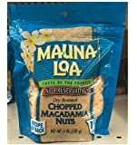Dry Roasted CHOPPED MACADAMIA NUTS - 6 ounce (170g)