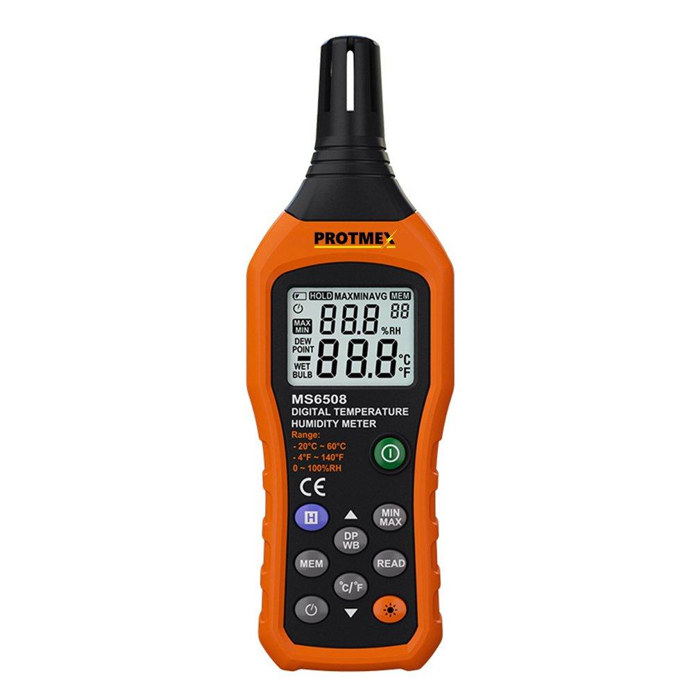 Digital de humedad Termómetro, Protmex MS6508 LCD Digital la Instant de lectura de temperatura metros Ambient Temperatura Tensiómetro de humedad relativa.