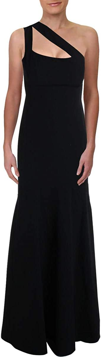 Laundry by Shelli Segal Women's Crepe Cutout One Shoulder Mermaid Gown