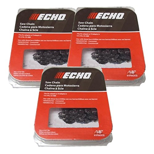 Set Of 3 Echo OEM Chainsaw Chain 3/8 62DL 18'' 91PX62CQ