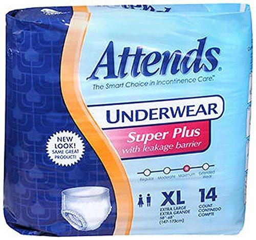 Super Plus Absorbency Underwear (Attends Underwear Extra Large Super Plus Absorbency - 4 pks of 14ct)