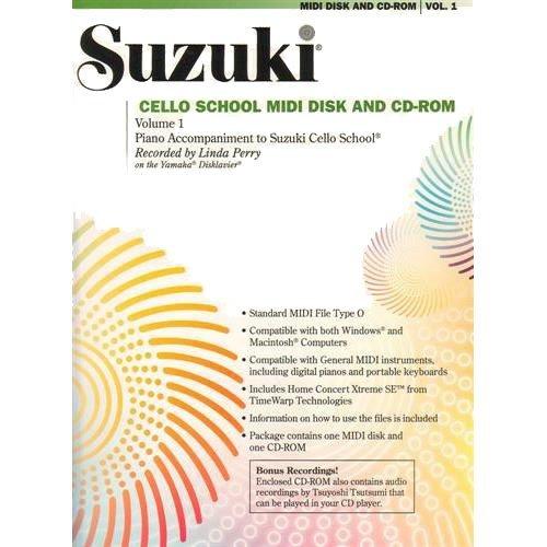 School Midi Disk (Suzuki Cello School MIDI Disk Acc./CD-ROM, Volume 1)
