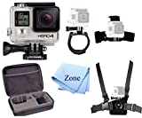 GoPro HERO 4 Silver Edition 12MP Waterproof Sports & Action Camera Bundle