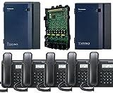 Panasonic KX-TDA50G Small Office Business Phone System 5pc KX-DT543 Black KX-TVA50 Voicemail KX-TDA5171 4 Port Expantion Card PSDCAT5e 12 Port Patch Panel