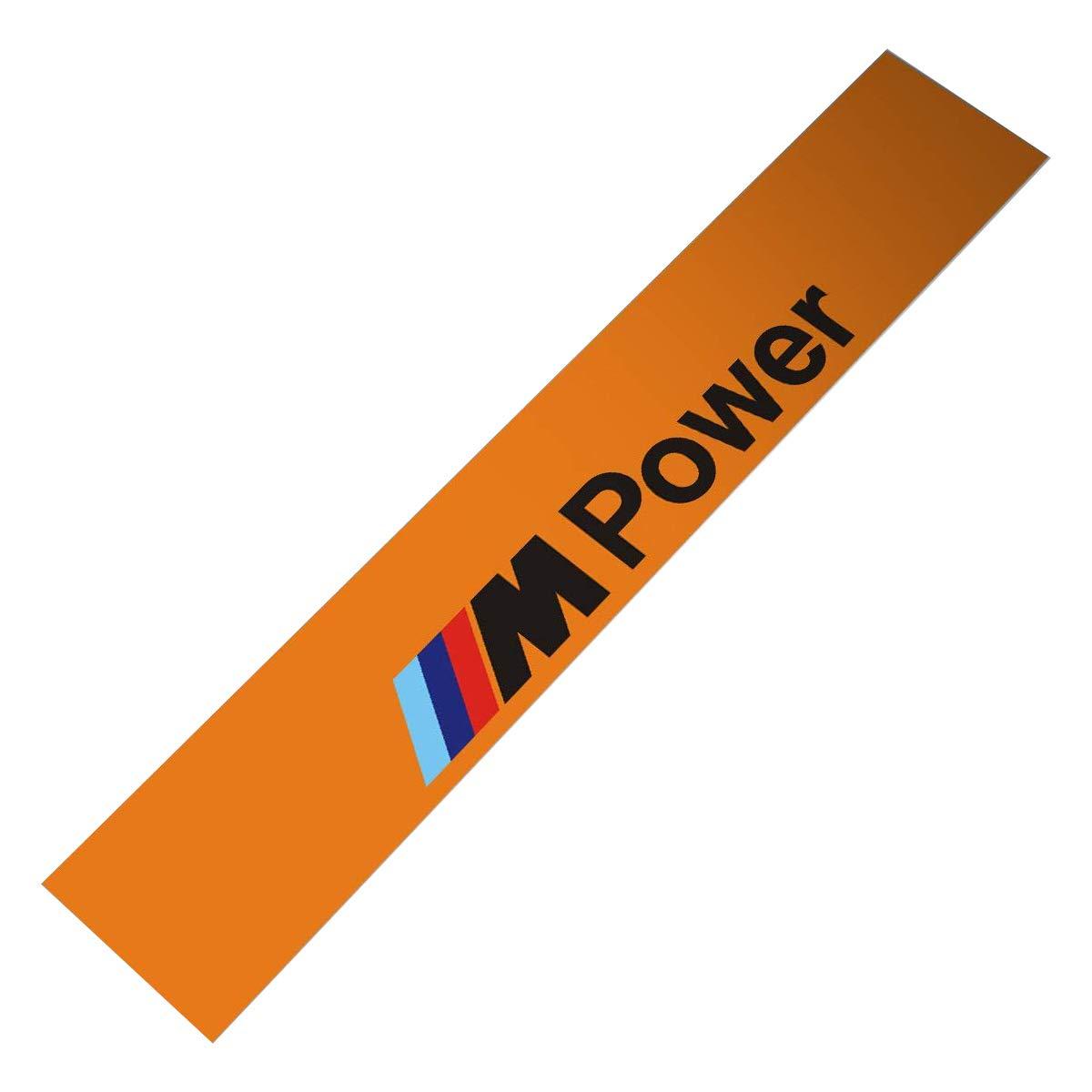 Demupai Front Windshield Banner Decal Vinyl Car Stickers for BMW M Power Accessories 51.97 X 8.27 Orange Background