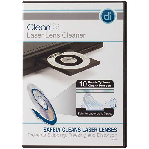 Laser Lens Cleaner for DVD CD Players with 10-Brush Cyclone Clean Process