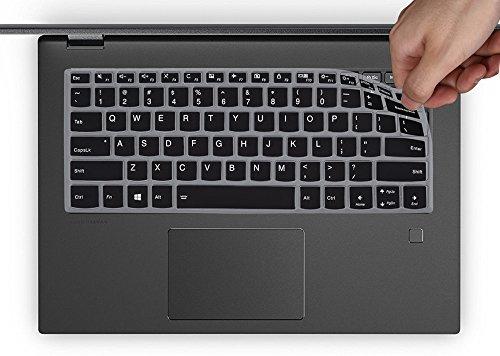 Keyboard Cover for Lenovo Yoga 720 15 15.6, Lenovo Flex 6 14, Flex 5 14, Flex 5 15.6 Laptop Ultra Thin Anti Dust Keyboard Silicon Protector Skin, Black