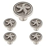 Franklin Brass PBF657-BSP-C1 Liberty Starfish Kitchen Cabinet Knob (5 Pack), Brushed Satin Pewter, 35mm