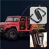 SUPAREE Black Grab Bar Front Grab Handle for Jeep Wrangler JK Sahara Sport Rubicon X & Unlimited 2 4 Door 2007-2017 Pair
