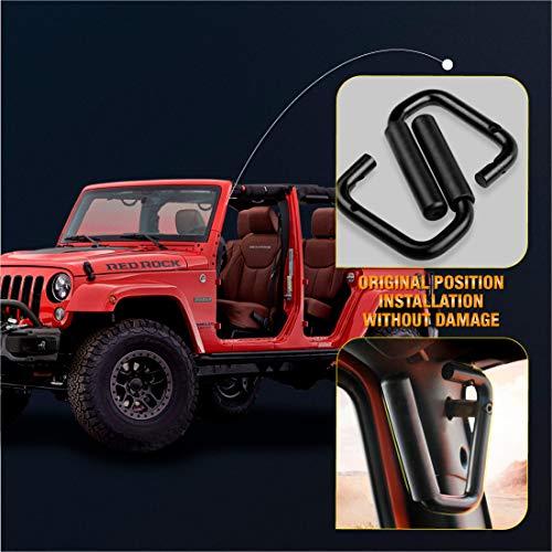 SUPAREE Black Grab Bar Front Grab Handle for Jeep Wrangler JK Sahara Sport Rubicon X & Unlimited 2/4 Door 2007-2017 Pair (Jeep Wrangler Grab Handles)