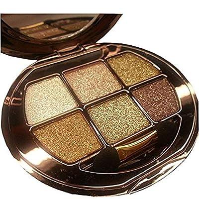 Glitter Eyeshadow Palette, 6 Colors Pigment Eyeshadow Powder Makeup Waterproof Shimmer Eye Shadow Palette Cosmetics