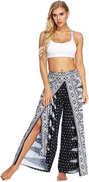 GSYJK Pantalones De Yoga para Mujer De Verano Pantalón Ancho ...