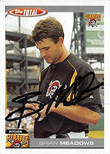 Brian Meadows autographed baseball card (Pittsburgh Pirates) 2004 Topps Total #49 - Baseball Slabbed Autographed Cards