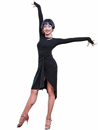 f4739732140f TALENT PRO Latin Dance Dress Long Sleeve Tango Skirt Ballroom Waltz Carmen Samba  Salsa Fringe Cha