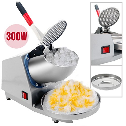 (Senrob Electric Ice Crusher, Ice Shaver Machine, Snow Cone Maker, Shaved Ice Machine (300W) for Commercial and Home Use)