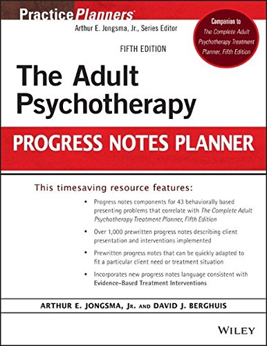 The Adult Psychotherapy Progress Notes Planner
