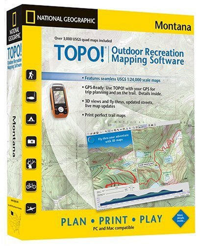 Amazoncom TOPO National Geographic USGS Topographic Maps Montana - Montana topo map