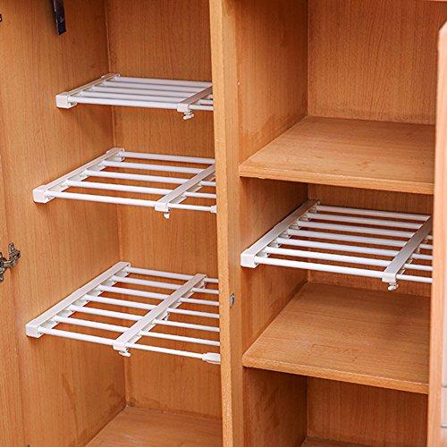 Adjustable Scalable Layered Separator Wardrobe Kitchen Bathroom Storage Rack Clothing Racks Toy Storage Rack (38-55cm)