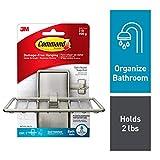 trending small bathroom sinks Command Soap Dish, Satin Nickel, 1-Soap Dish (BATH34-SN-ES)