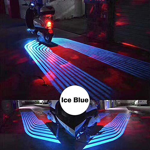 (CLighting LED Auxiliary Lights Angel Wings for Car Motorcycles Jeep Trucks Off Road Bicycle Kawasaki Harley ATV SUV Vehicle Boat (Ice Blue))