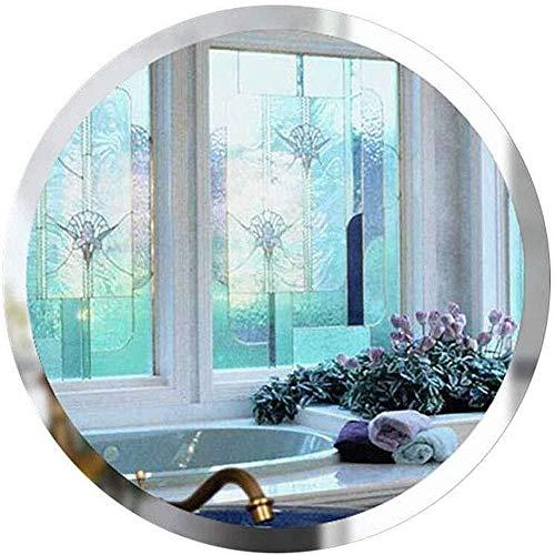 JIANGLI Bathroom Mirror, Metal Frame Round Wall Mirror Simple HD Makeup Mirror -