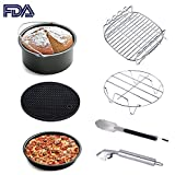 KINDEN Air Fryer Accessories Universal 7-pieces per Set , air fryer baking pan suitable for Gowise Phillips Cozyna and More