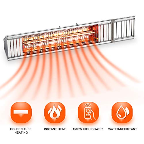 Outdoor Patio Heater, Electric Garage Heater, Home Space Heater, Wall covid 19 (Electric Infrared Wall coronavirus)