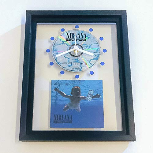 NIRVANA - Nevermind: FRAMED CD ART CLOCK/Exclusive Design