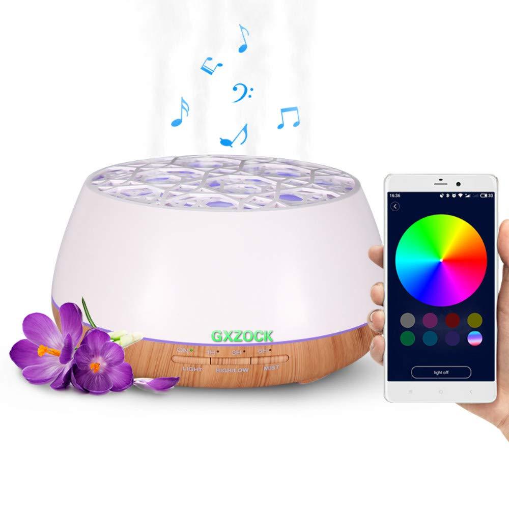 GXZOCK 400ml Oli Essenziali Aromaterapia Bluetooth Ad Ultrasuoni Diffusore Di Umidificatore Ad Ultrasuoni Per Ufficio Casa Bambino Camera Da Letto Yoga Spa
