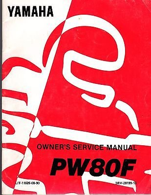 (1994 Yamaha Motorcycle Scooter PW80F Owners Service Manual LIT-11626-08-90 (256))