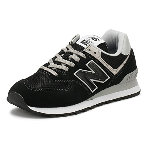 New Balance Men's 574v2 Evergreen Lifestyle Sneaker, Black, 10.5 D US