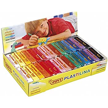 Jovi Plastilina Non-Drying Modeling Clay; 1.75 oz. Bars, Set of 30, 2 each of 15 Colors, perfect for Arts and Crafts Projects