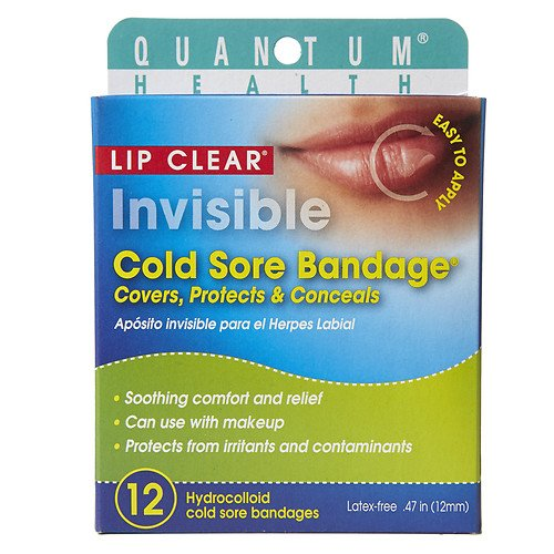 Quantum Health Lip Clear Invisible Cold Sore Bandage 12 ea(Pack of - Sore Lip Bandage Cold Clear