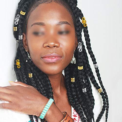 Dreamtop 200 Pieces Aluminum Hair Coil Dreadlocks Beads Metal Hair Cuffs Hair Br Ebay