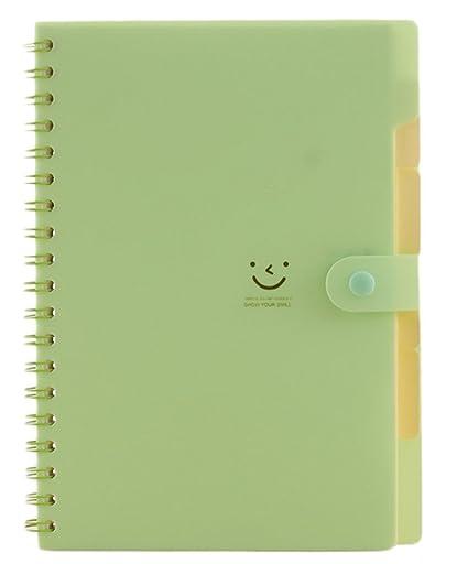cosanter Wirebound Notebook cubierta de plástico Líneas 198 páginas ...