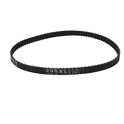 Sourcingmap - 206xl 20,6 pulgadas circunferencia 103t de caucho negro máquina sincronizada correa de