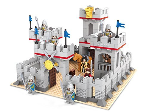 Ausini Knights Castle Fortress Heavy Guarded Palace Bricks 686pc Educational Blocks Set – Great Gift for (Guarded Brick Set)