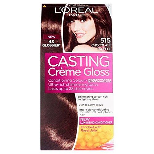 L'Oreal Casting Creme Gloss Choc Truffle 515 (Pack of 6) - ロレアルのキャスティングクリームグロスチョコトリュフ515 x6 [並行輸入品] B07255JFVN